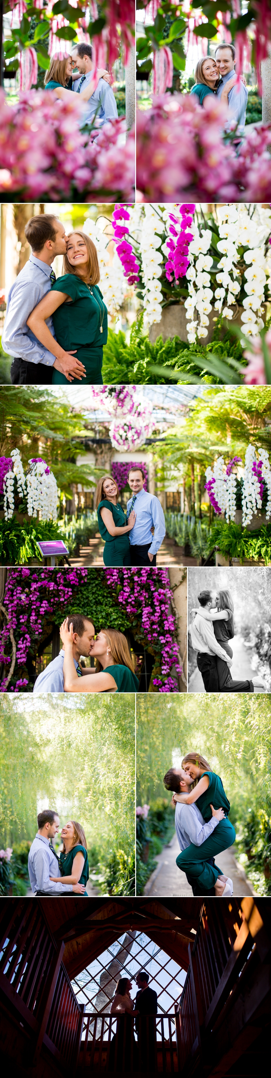 longwood gardens engagement photos savannah amp jim