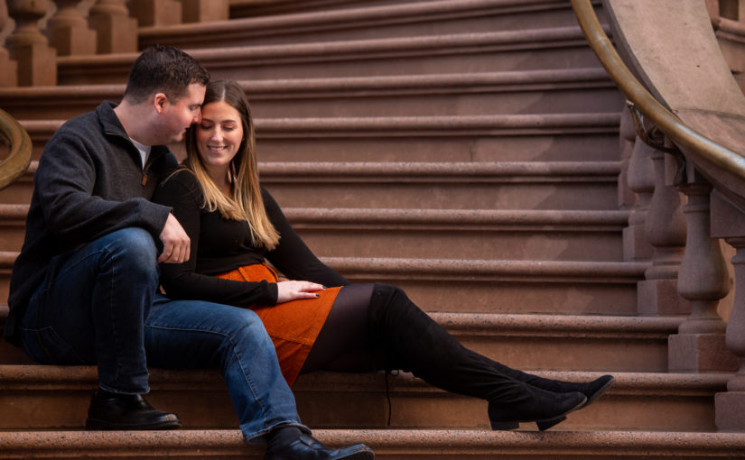 Taylor and Shane's Engagement Session ~ City Hall, Philadelphia